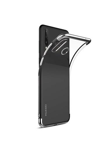 Microsonic Huawei P30 Lite Kılıf Skyfall Transparent Clear Gümüş Gümüş
